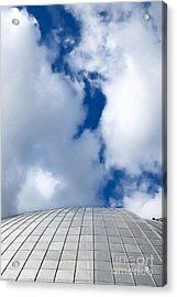 Mellon Arena On A Cloudy Day Acrylic Print by Amy Cicconi