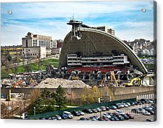 Mellon Arena Partially Deconstructed Acrylic Print by Amy Cicconi