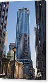 Mellon Bank Center Penn Center Market West Skyscrapers Phila Pa Acrylic Print by David Zanzinger