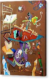 Melodia Del Silenzio - Art Collage - Music Concert For Violoncello Acrylic Print by Arte Venezia