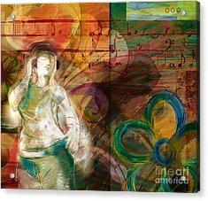 Melody Acrylic Print by Bedros Awak