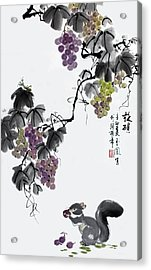 Acrylic Print featuring the painting Melody Of Life II by Yufeng Wang