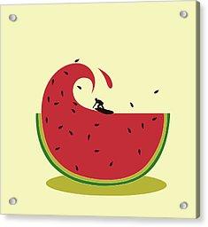 Melon Splash Acrylic Print by Neelanjana  Bandyopadhyay