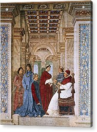 Melozzo Da Forli 1438-1494. Sixtus Iv Acrylic Print by Everett