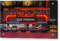 Mels Diner Acrylic Print by Gary Warnimont