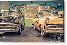 Mel's Drive-in Acrylic Print by Edward Fielding
