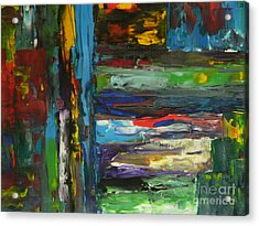 Acrylic Print featuring the painting Melted Crayons by Everette McMahan jr