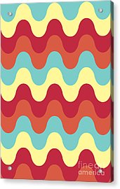 Melting Colors Pattern Acrylic Print