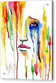 Melting Dreams Acrylic Print by P J Lewis