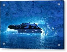 Melting Ice Cave Antarctica Acrylic Print