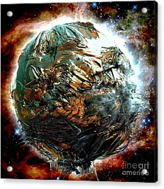 Melting Planet Acrylic Print by Bernard MICHEL