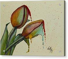 Melting Tulips Acrylic Print