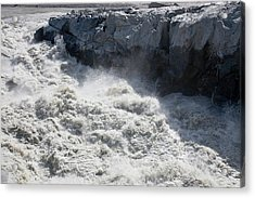 Meltwater From The Russell Glacier Acrylic Print by Ashley Cooper