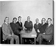 Members Of The Nra Board Acrylic Print by Underwood Archives