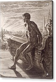 Memnon's Statue Acrylic Print by Bernard Picart