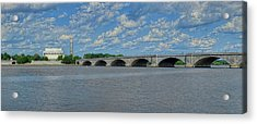 Memorial Bridge After The Storm Acrylic Print by Metro DC Photography