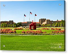 Acrylic Print featuring the photograph Memorial Circle by Mae Wertz