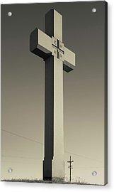 Memorial Cross To Spanish Father Juan Acrylic Print