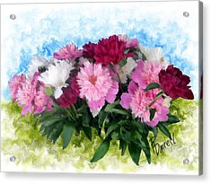 Memorial Day Peonies Acrylic Print by Ric Darrell