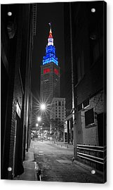 Memorial Day Terminal Tower In Cleveland Acrylic Print