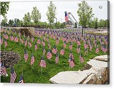 Memorial Flags Acrylic Print