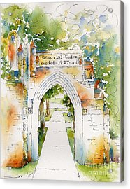 Memorial Gates Acrylic Print by Pat Katz