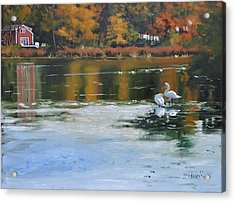 Memorial Pond II Acrylic Print