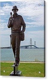 Memorial To Bridge Workers Acrylic Print by Jim West