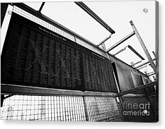 Memorial Wall With Names Of Nine Eleven Victims On The Fence At World Trade Center Ground Zero Acrylic Print by Joe Fox