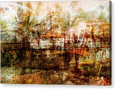 Acrylic Print featuring the mixed media Memories #1 by Sandy MacGowan