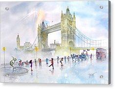Memories Of London Bridge England Acrylic Print by John YATO