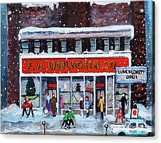 Memories Of Winter At Woolworth's Acrylic Print