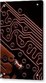 Memory Chip Acrylic Print by Bob Orsillo