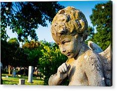 Memphis Elmwood Cemetery - Boy Angel Acrylic Print by Jon Woodhams