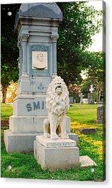 Memphis Elmwood Cemetery - Guarding Jasper Acrylic Print by Jon Woodhams