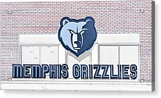 Memphis Grizzlies Acrylic Print by Liz Leyden