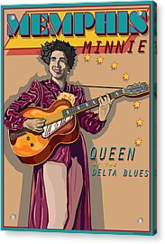 Memphis Minnie Queen Of The Delta Blues Acrylic Print by Larry Butterworth