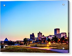 Memphis Morning - Bluff City - Tennessee Acrylic Print by Barry Jones