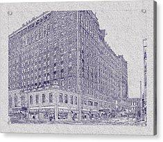 Memphis Peabody Hotel Blueprint Acrylic Print