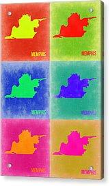 Memphis Pop Art Map 3 Acrylic Print