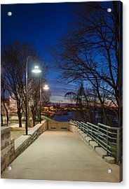Memphis Riverfront Acrylic Print by Mark Bowmer