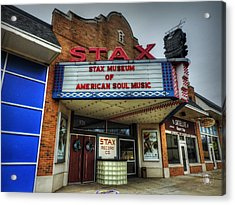 Memphis - Stax Records 001 Acrylic Print by Lance Vaughn