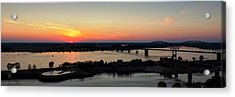 Memphis Sunset On The Mississippi 002 Acrylic Print by Lance Vaughn