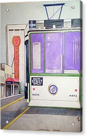 Memphis Trolley Acrylic Print