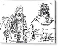 Men At The Cafe Acrylic Print