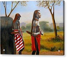 Men Of The Maasai Acrylic Print