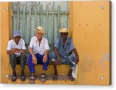 Men On The Street, Trinidad, Cuba Acrylic Print