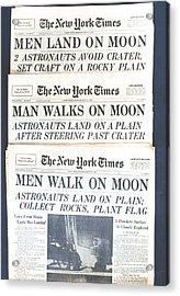 Men Walk On The Moon Acrylic Print