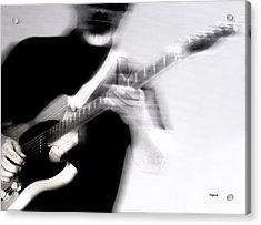 Men Who Play Acrylic Print by Steven Digman
