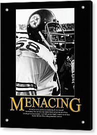 Menacing Jack Lambert Acrylic Print by Retro Images Archive